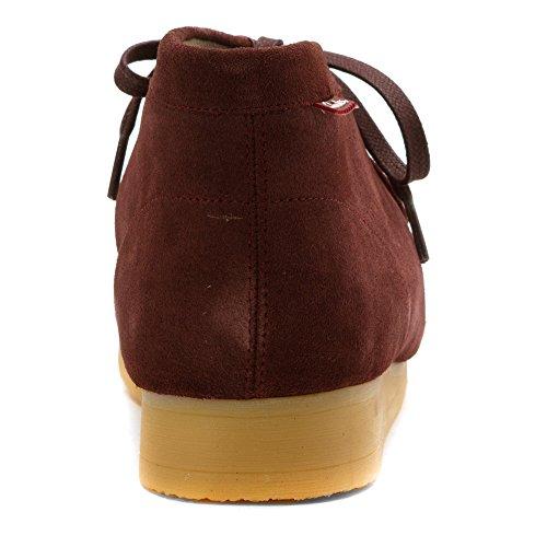Clarks Mens Stinson Salut Chukka Boot Bordeaux Daim