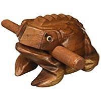 "Deluxe Medium 4 ""Wood Frog Guiro Rasp - Bloque de tono de instrumento musical"
