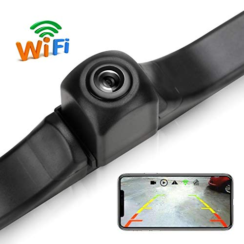 WiFi License Plate Backup Camera, 720P Car Rear View Reverse Camera Work with Most Smart Devices
