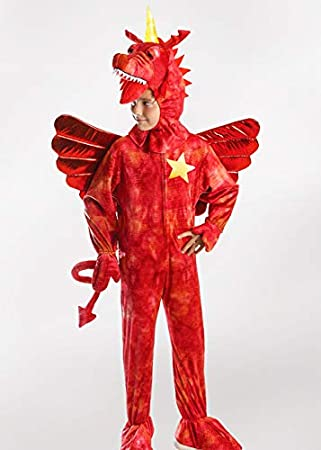 Delights Disfraz de dragón Rojo Estilo zog para niños con Cuerno ...