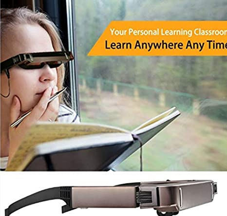 """80/"""" Portable Smart 3D VR Video Glasses Android 4.4 Bluetooth Virtual 5MP Camera"""
