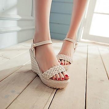 55ed3dff5b448 zhENfu Women s Shoes Heel Wedges   Heels   Peep Toe   Platform Sandals    Heels Outdoor