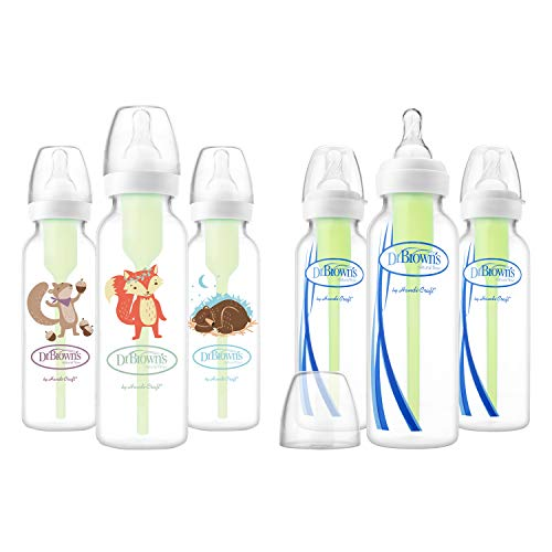 Dr. Brown's Options Baby Bottles, Woodland Animals, 8 Ounce,