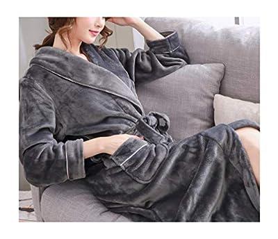 FEMAROLY Women Fall and Winter Flannel Bath Robe Long Warm Soft Kimonos Girls Nightgown