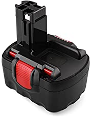 Odec Batterie Remplaçable 14,4V 3000 mAh, Bosch Accu pour BAT038 BAT040 BAT041 BAT140 BAT159 2607335685 2607335533 2607335534 2607335711 (Ni-MH)