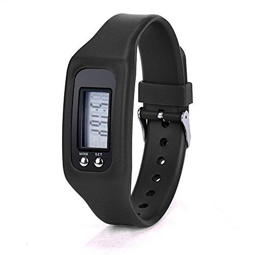 Muranba 2019 ! Digital LCD Pedometer Run Step Walking Distance Calorie Counter Watch Bracelet (Black)