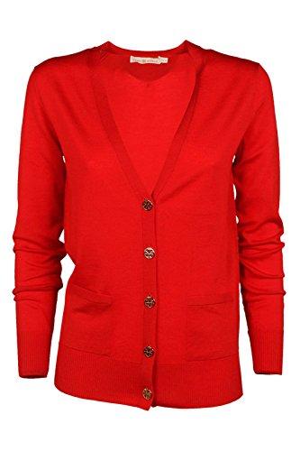Tory Burch cardigan pull chandail femme rouge