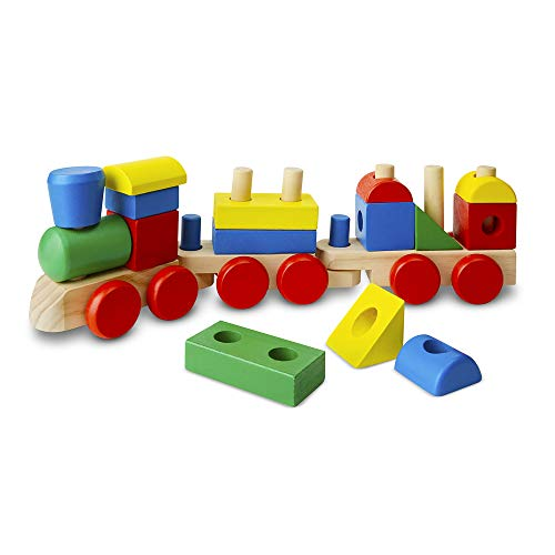 ing Train - Classic Wooden Toddler Toy (18 pcs) ()