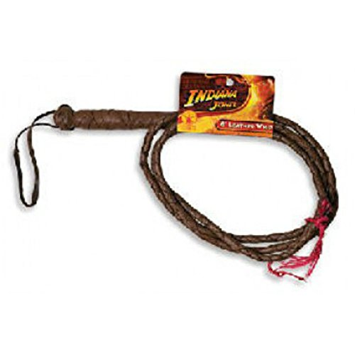 Indiana Jones 6' Leather Whip Six Foot Costume Accessory Costume Harrison Ford