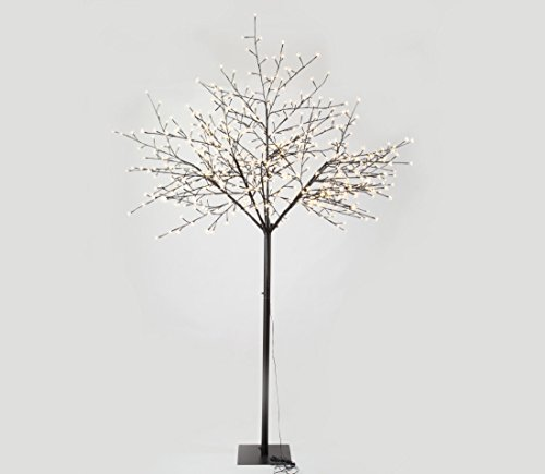 GOJOOASIS 8 Feet Cherry Blossom Lighted Tree Mother's Day Gift 600 LED lights Warm White for Christmas Tree, Party, Wedding, and More Festival Decoration Indoor and Outdoor Use Cherry Blossom Gardens