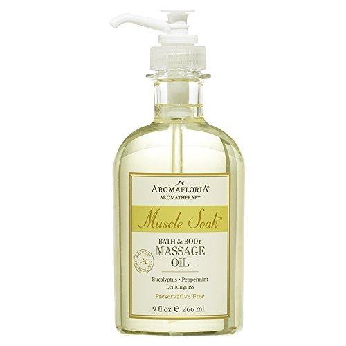 (Aromafloria Aromatherapy Collection Muscle Soak Massage Oil, Eucalyptus/Peppermint/Lemongrass, 9.0 Ounce)