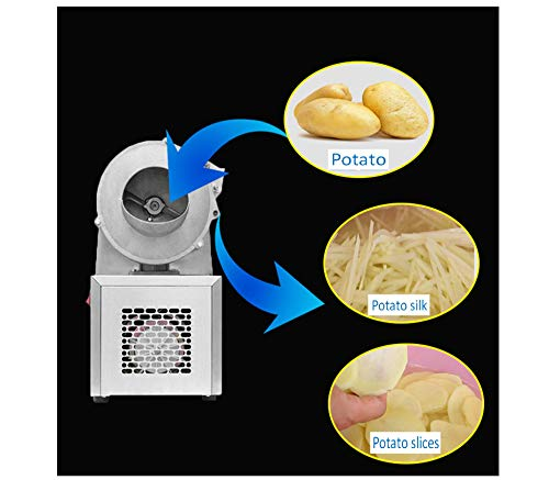 TX® Multifunctional Automatic Vegetable Cutting Machine Commercial Electric Slicer Shredder Machine for Potato, Carrot…