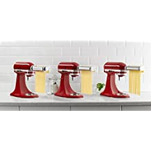 KitchenAid RKSMPRA 3-Piece Pasta Roller & Cutter Attachment Set (Certified REFURBISHED)