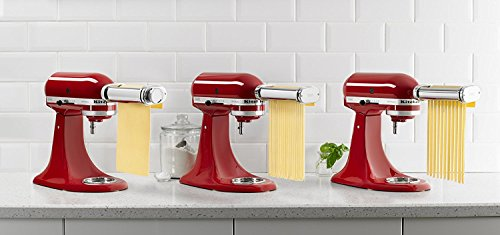 - KitchenAid RKSMPRA 3-Piece Pasta Roller & Cutter Attachment Set (Renewed)