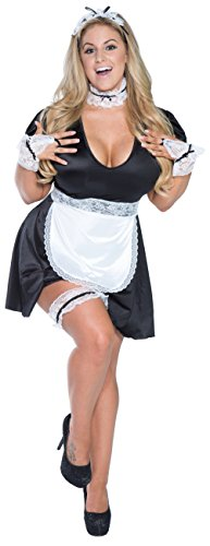 Plus Size Retro Maid Costume (10X, Black / White) by Ladystrange Lingerie