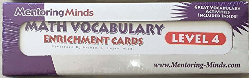 Read Online Mentoring Minds Math Vocabulary Enrichment Cards Level 4 PDF