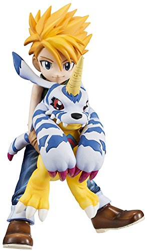 - Digimon Adventure Yamato Ishida & Gabumon GEM PVC Figures w Stand Collectible