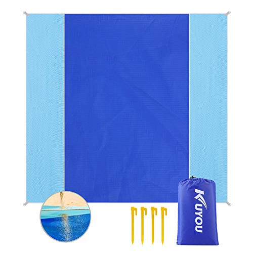 KUYOU Sand Proof Beach Blanket, Extra Large Beach Mat 82