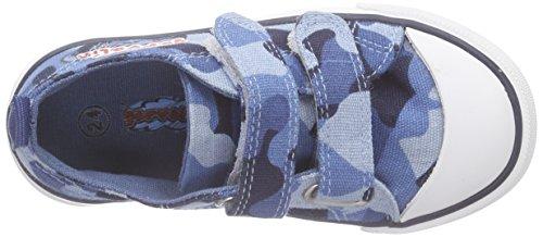 Garvalín 162375 - Zapatillas Niños Azul Estampado Militar (Pique)