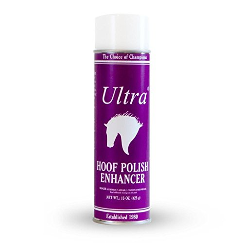 Ultra 15 Oz Hoof Polish Enhancer Areosol Spray the Choice of Champions Hoof Shine Polish