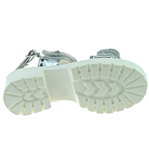 Lelli Kelly LK9482 (AH01) Splendid Argento Sandals-28 (UK 10)