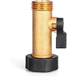GLORDEN Solid Brass Garden Hose Connector Single Hose Shut-Off Valve with Comfort Grip(3.25 IN)