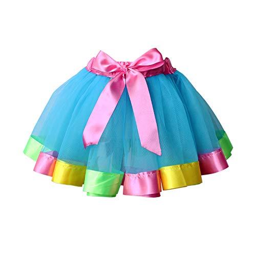Meijunter Little Girls Tulle Rainbow Tutu Skirt Pettiskirts Ballet Dance -