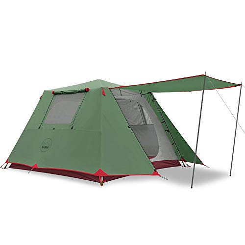 KAZOO Family Camping Tent Large Waterproof Pop Up Tents4/6 Person Room Cabin Tent Instant Setup with Sun Shade Automatic Aluminum Pole