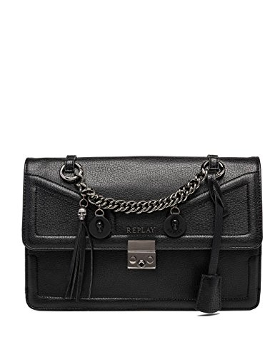 Replay Women's Women's Black Shoulder Bag In Size One Size Black
