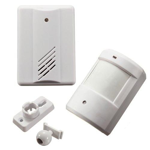 Infrared Wireless Doorbell Alarm System Motion Sensor with Receiver
