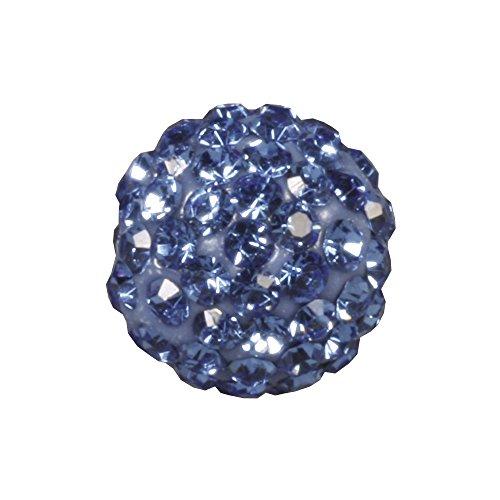 RAYHER hobby 14633822–style shamballa mixte-perle, diamètre 12 mm, sachet de jouer saphir clair