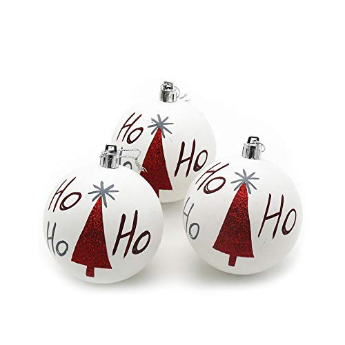 (Pausseo Christmas Balls Matte White Ball Party Xmas Tree Pendant Hanging Ornament Santa Claus Snowman Elk Cloth Art Decoration Home Decor Children Small Gift Festival Toy Doll Pendant (4PCS))