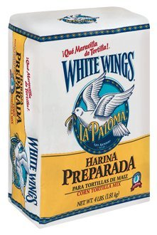 White Wings Corn Tortilla Mix 4lb Bag (Pack of 3) White Corn Tortilla