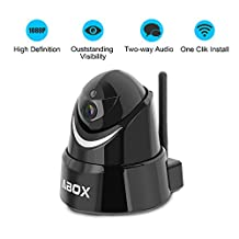 2017 Newest Model GooBang Doo ABOX Wireless Security Camera, 1080P HD Wireless Home Surveillance IP Camera WiFi Baby Monitor with Motion Detect,Night Vision Pan/Tilt Two way Talk (Free App supports iOS Android)
