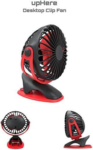 upHere-UF1404BR/UF1404GE Uf1404br Nero&rosso ventilatore a clip: Amazon.es: Hogar