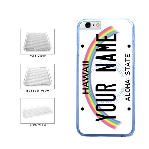 BleuReign(TM) Personalized Custom Name Hawaii State License Plate Clear Sides Plastic Phone Case Back Cover For Apple iPhone 6 Plus and iPhone 6s Plus (5.5 Inches Screen) (Bleu Reign Inc Iphone 6)