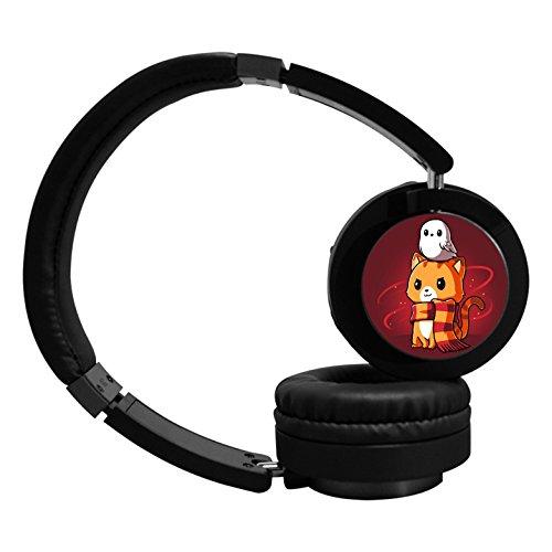 MagicQ New Brave Kitty Bluetooth Headphones,Hi-Fi Stereo Earphones Headset. (Earphones Headphones Bravo)
