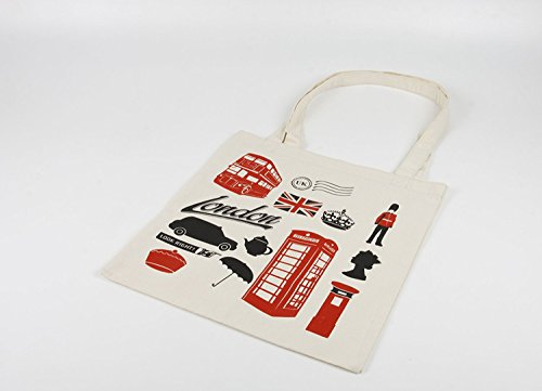 Bag Icons London Cotton London Icons Tote q7XffE
