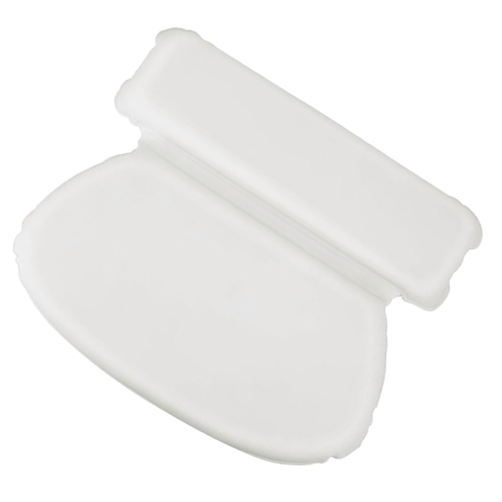 D DOLITY Bath Spa Pillow White Relaxing Spony Cushioned Head Neck Rest Bathroom
