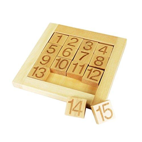 WINOMO 木製パズル 数字パズル 知育玩具 数字の基礎を覚える 木製のおもちゃ パズル ブロック 幼児 子供 教育教材 脳活性化 視覚 認識 数遊び