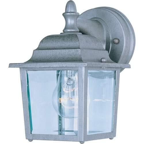 Maxim Lighting Builder Cast Pewter 1-Light Outdoor Wall-Mounted Lantern 1025PE Pack of 2