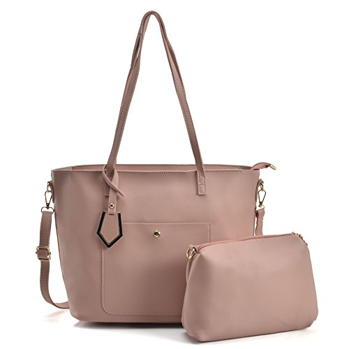2 Leather Pu Fashion vk5408 Women Bags Large Pink Handle Capacity Satchel Young Top Ladies Sally For Pieces HSIf88