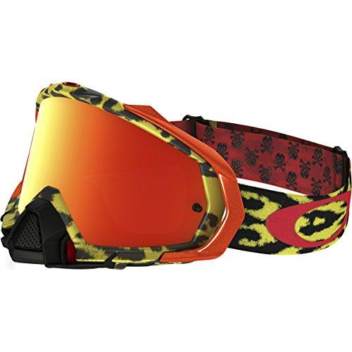 Mens Mx Pro Frame - Oakley Mayhem Pro MX Men's TLD Goggles (Cheetah Yellow Frame/Fire Iridium Lens)