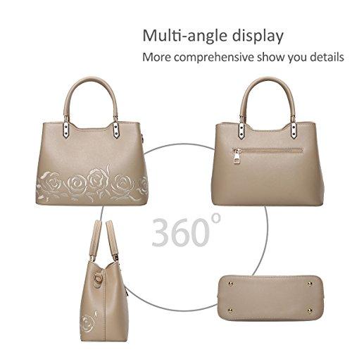 NICOLE&DORIS Elegante Bolsos de Mano para Mujer Monederos Bolso Crossbody Mujer Bolso de Bandolera PU Oro Oro