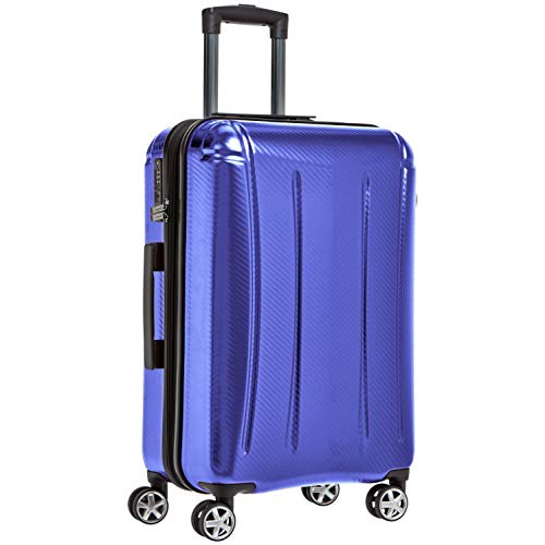 AmazonBasics Oxford Expandable Spinner Luggage Suitcase with TSA Lock - 24 Inch, Blue (Best Selling Items On Amazon Ca)