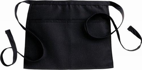 Fiumara Apparel Professional Reversible Waist Apron with 2 pockets - Black   13