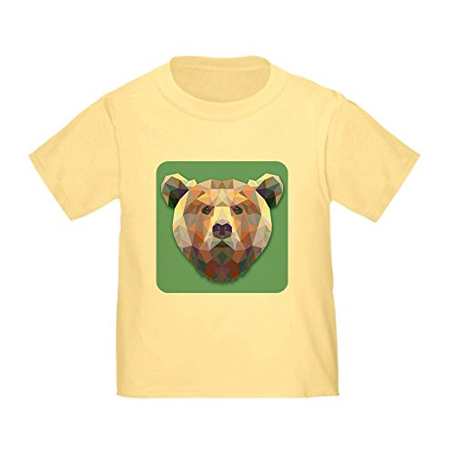 Royal Lion Toddler T-Shirt Triangle Bear - Daffodil Yellow, 3T (Daffodil Bear)