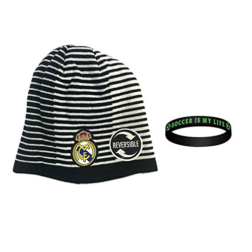 icon sports Real Madrid fc Beanie 2019 hat Official Licensed Authentic Merchandise Warm Winter Knit hat 2-Pieces (2)