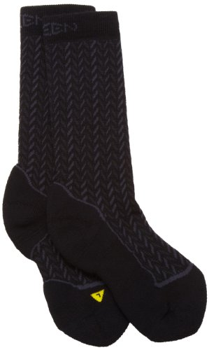 KEEN Girl's Gracie Knee-High Lifestyle Sock (Black/Charcoal, Small)