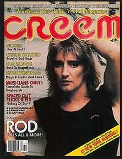 1977 Rod - Creem Magazine -November 1977 - Rod Steward Cover, Stones, Lynyrd Skynyrd, Boz Scaggs, Steve Winwood, and More (Creem)